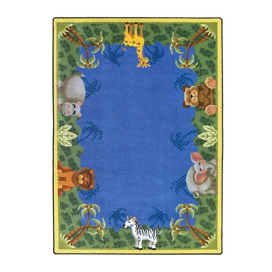 Joy Carpets Jungle Friends Rectangular Indoor Tufted Kids Area Rug (Common: 8 x 11; Actual: 92-in W x 129-in L)