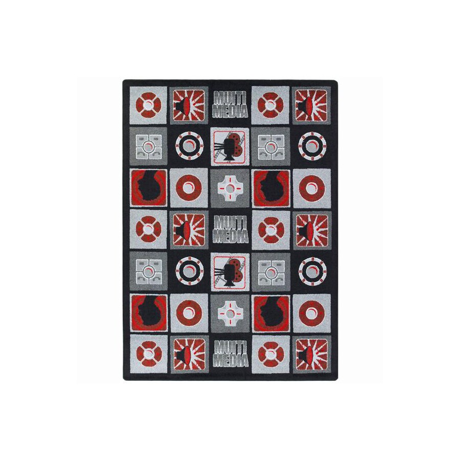 Joy Carpets Wired 11-ft 2-in x 10-ft 9-in Rectangular Multicolor Transitional Area Rug