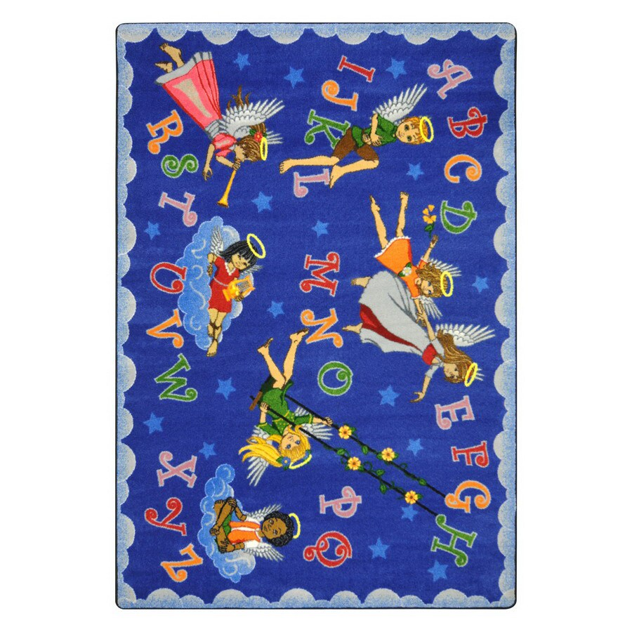 Joy Carpets Angel Alphabet 11-ft 2-in x 10-ft 9-in Oval Multicolor Educational Area Rug