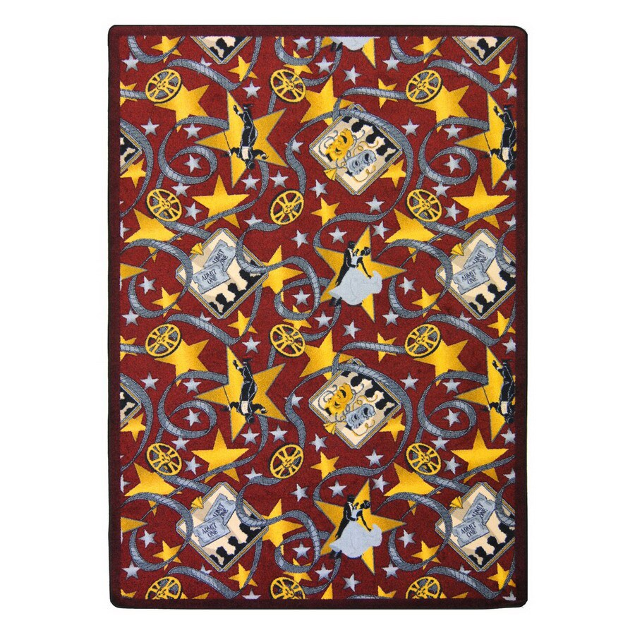 Joy Carpets Silver Screen 10-ft 9-in x 7-ft 8-in Rectangular Multicolor Transitional Area Rug