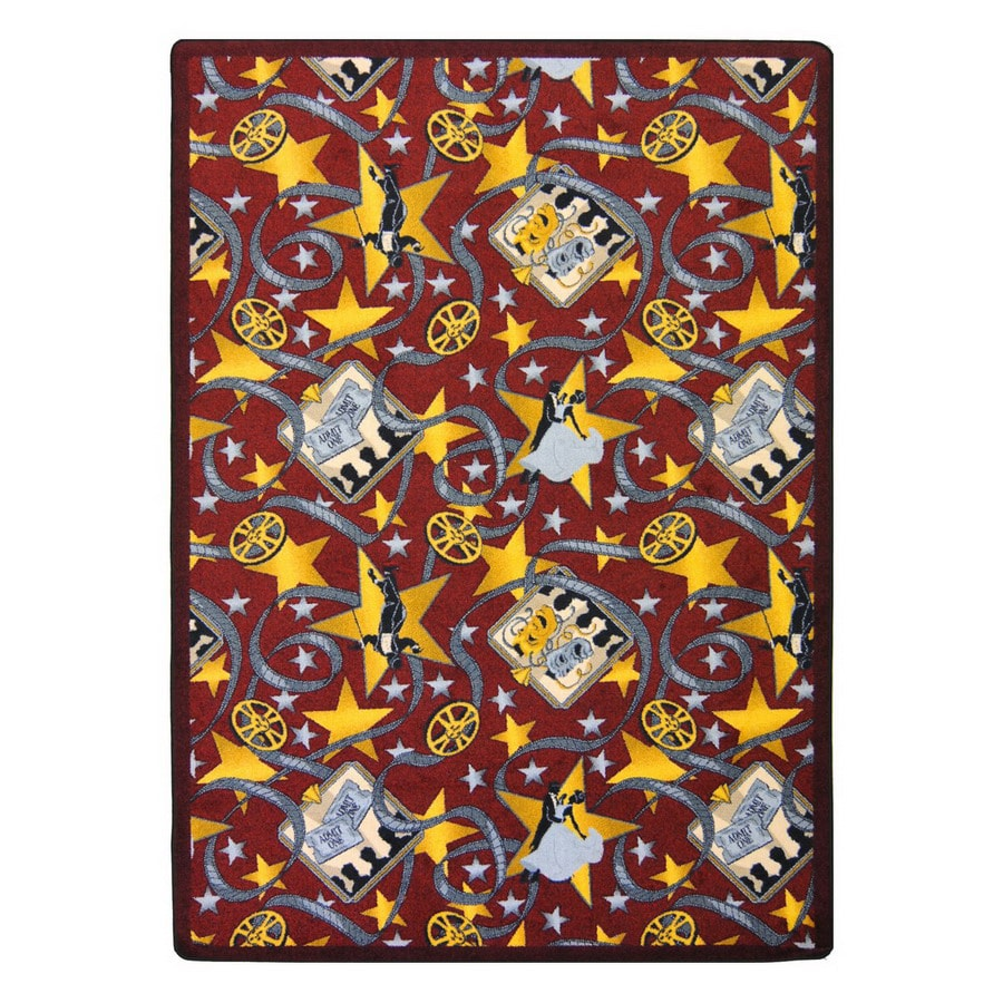 Joy Carpets Silver Screen 13-ft 2-in x 10-ft 9-in Rectangular Multicolor Transitional Area Rug