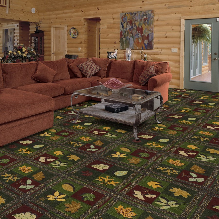 Joy Carpets Woodland Trail 13-ft 2-in x 10-ft 9-in Rectangular Multicolor Floral Area Rug
