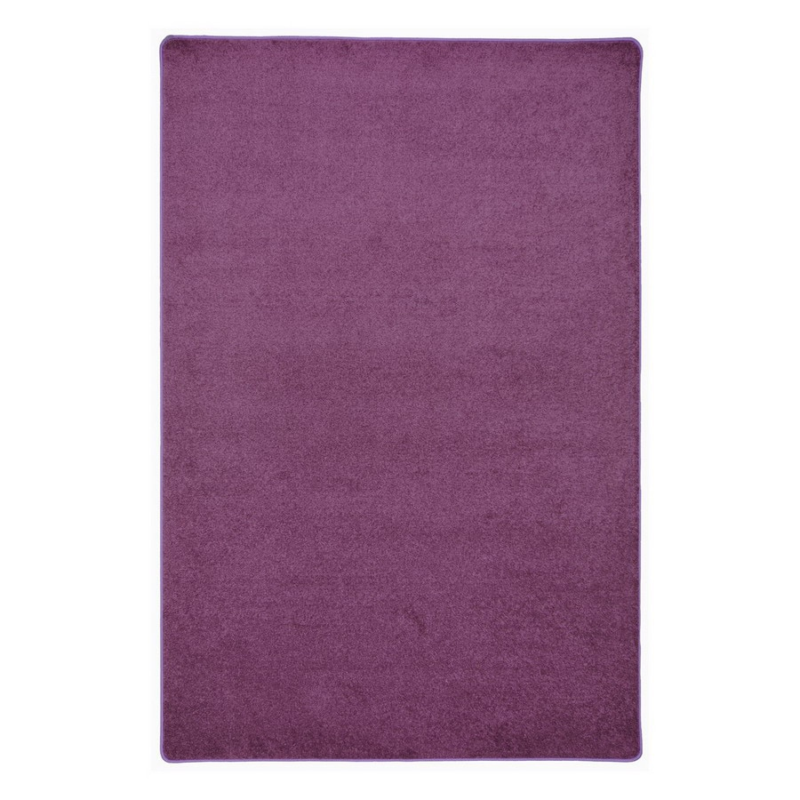Joy Carpets Endurance Purple Square Indoor Tufted Area Rug (Common: 6 x 6; Actual: 72-in W x 72-in L)