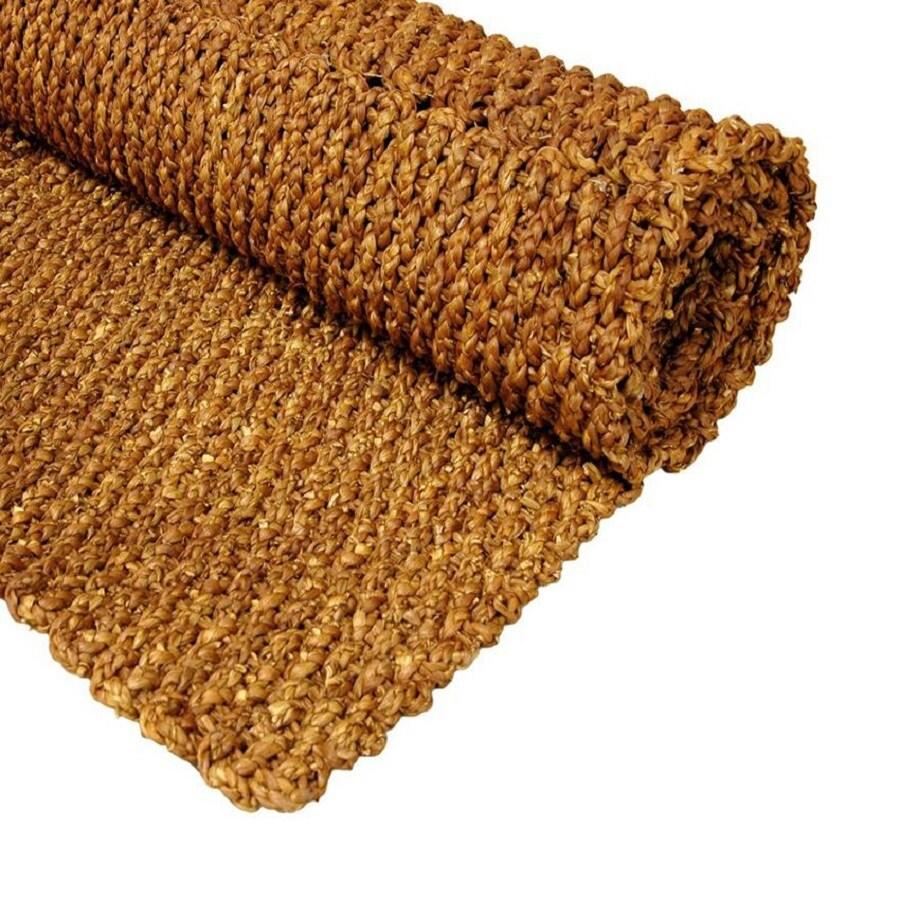 Oriental Furniture Fiber Weave Honey Rectangular Indoor Woven Throw Rug (Common: 2 x 3; Actual: 24-in W x 36-in L)