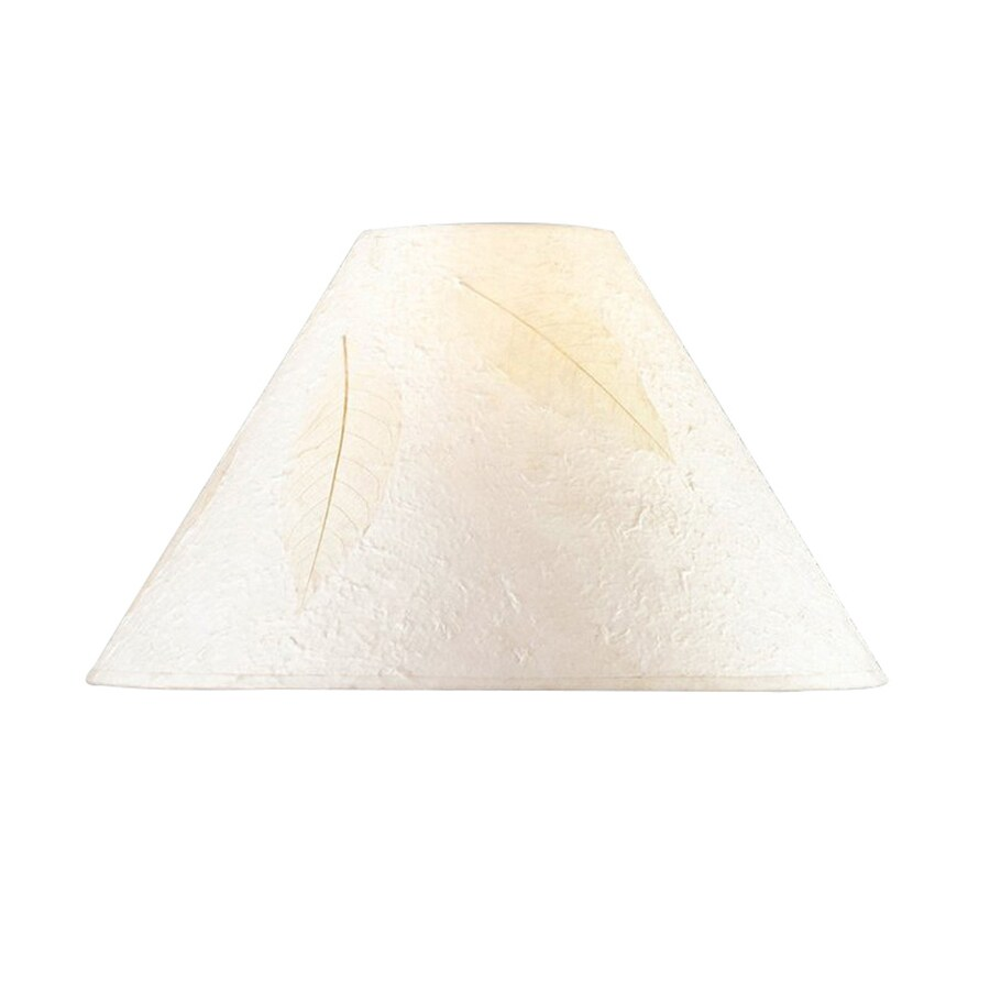 Cal Lighting 10.5-in x 16-in Rice Paper Cone Lamp Shade