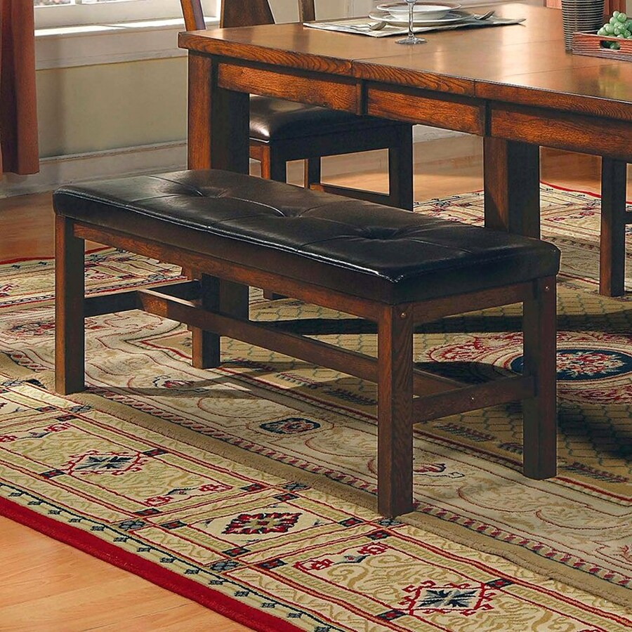 Steve Silver Company Lakewood Burnished Medium Oak 52-in Dining Bench