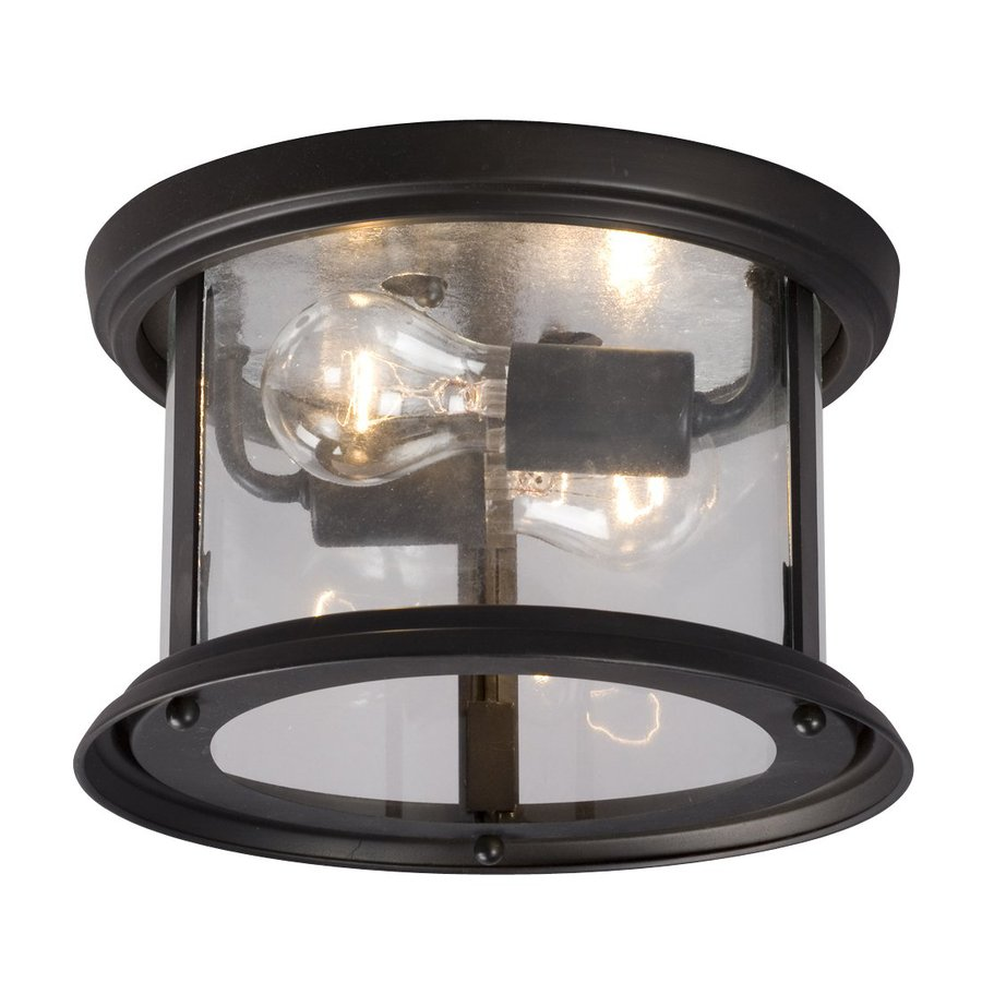Galaxy Huntington 10-in W Oil-Rubbed Bronze Ceiling Flush Mount Light