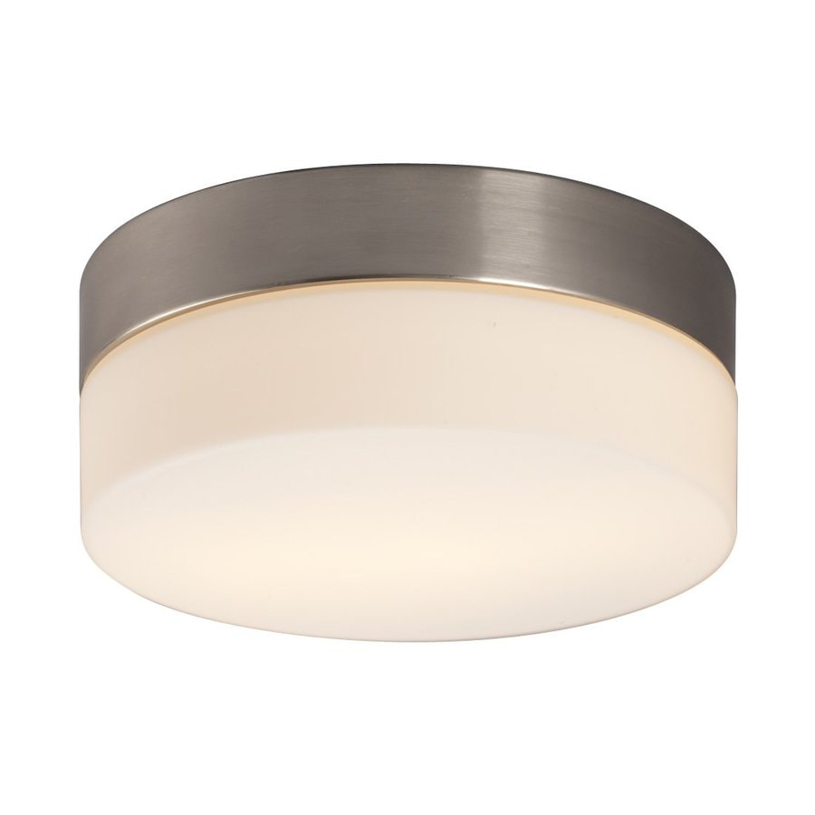Galaxy 7.75-in W Brushed Nickel Ceiling Flush Mount Light