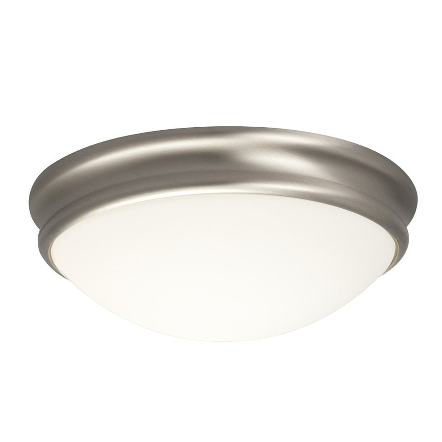 Galaxy 10.375-in W Brushed Nickel Ceiling Flush Mount Light