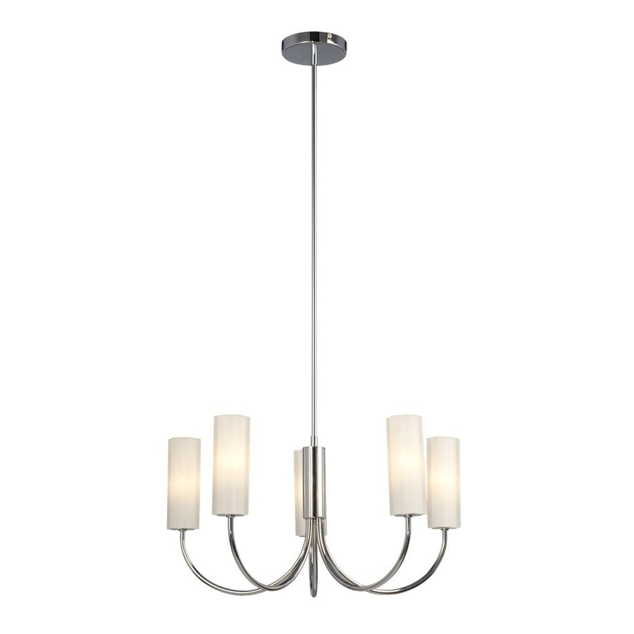 Galaxy Forza 21.5-in 5-Light Chrome Industrial Shaded Chandelier