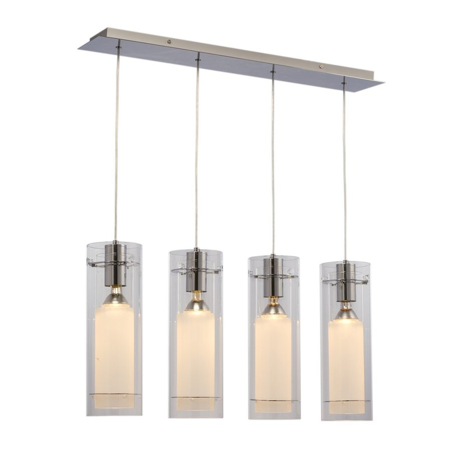 Galaxy Diego 5.5-in W 4-Light Chrome Kitchen Island Light with Clear Shade