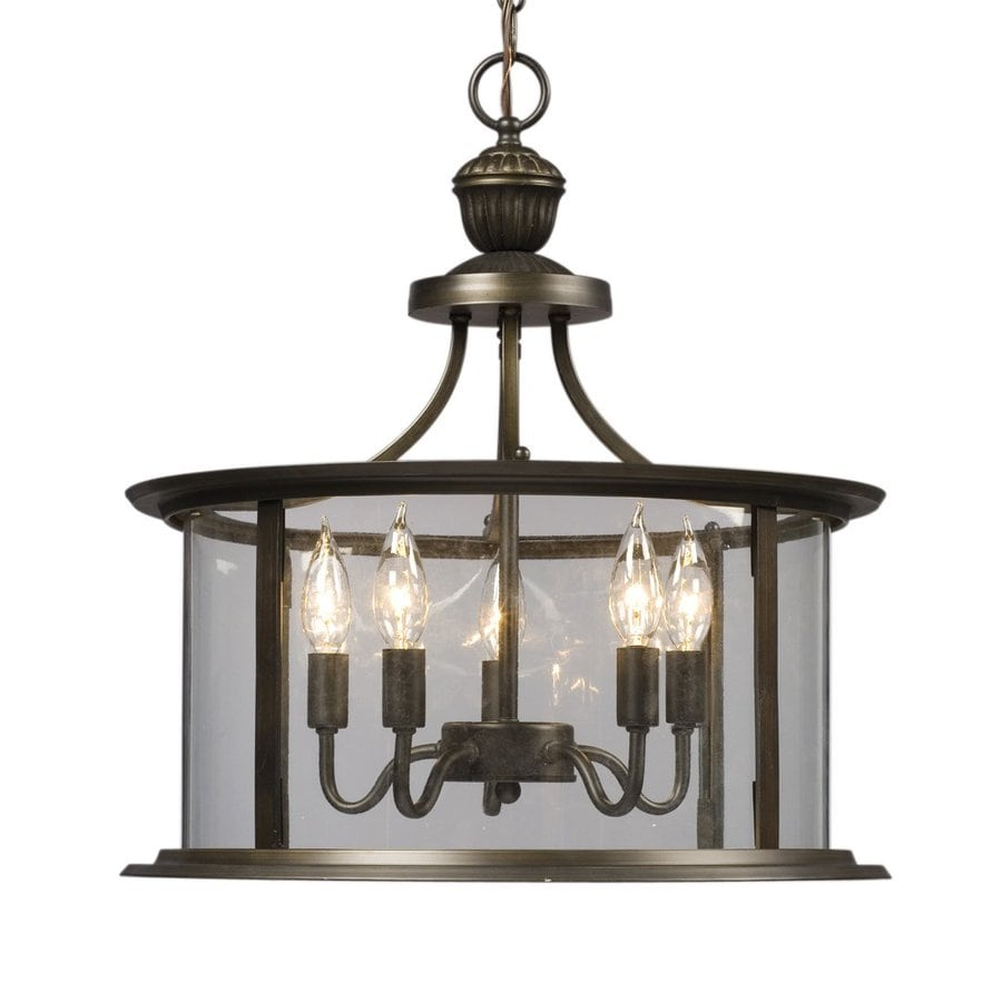 Foyer Pendant Lighting Lowes : Shop galaxy huntington in oil rubbed bronze wrought