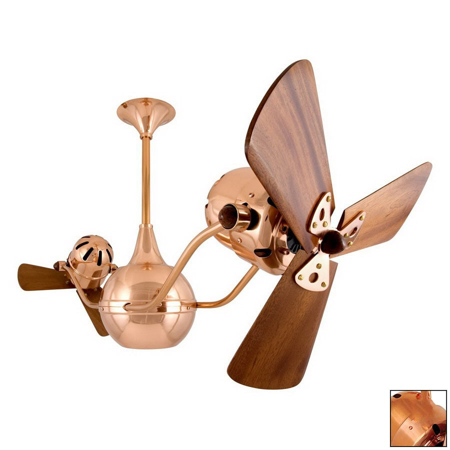 Matthews 16-in Vent Bettina Polished Copper Ceiling Fan