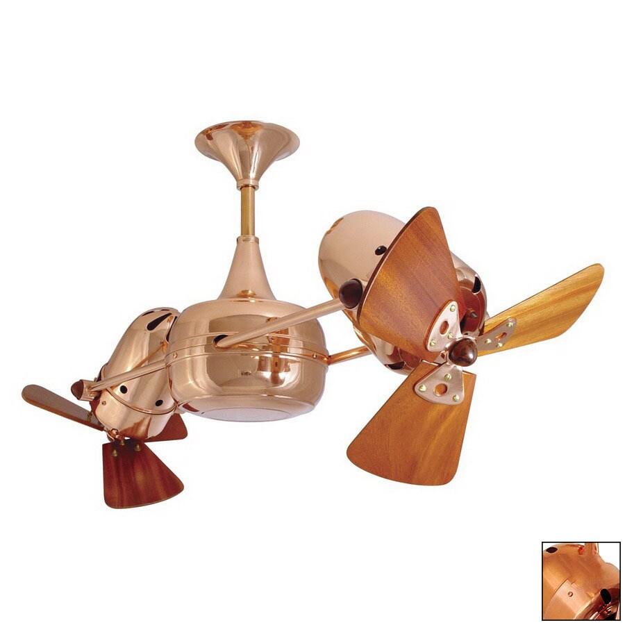 Matthews 12-in Duplo Dinamico Polished Copper Ceiling Fan