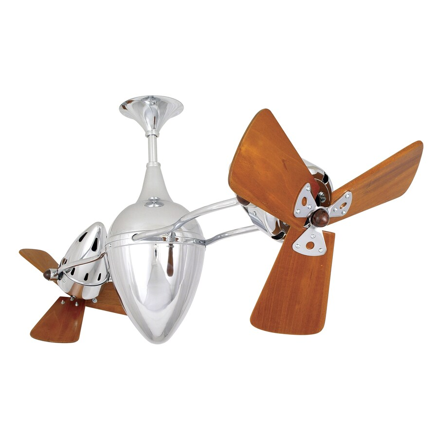 Matthews Ar Ruthiane 16-in Polished Chrome Downrod Mount Ceiling Fan (6-Blade)