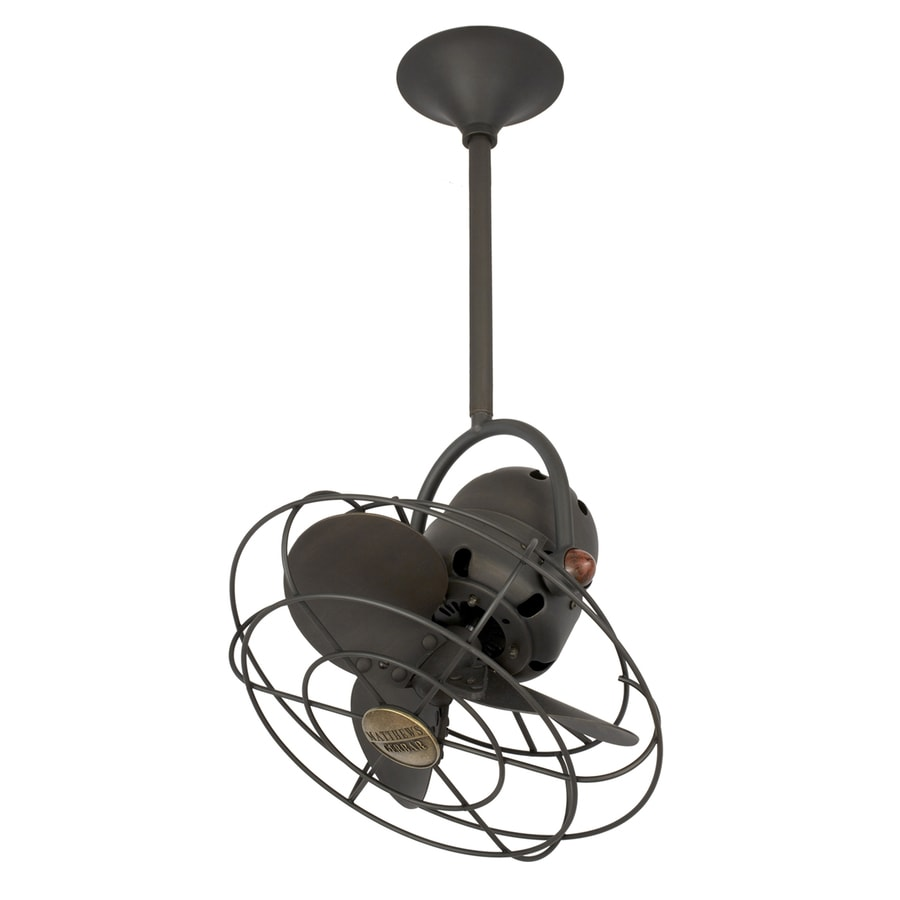 Quality Ceiling Fans High Quality Ceiling Fan Light Red: Shop Matthews Bianca Directional 13-in Bronze Downrod