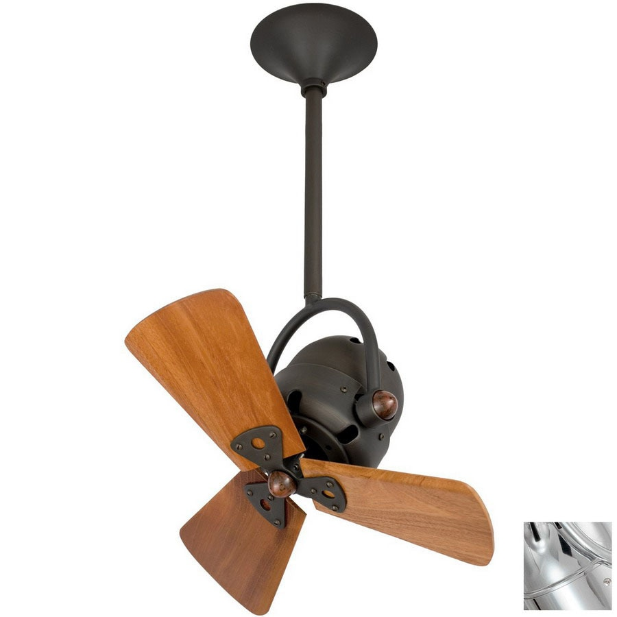 Matthews 13-in Bianca Directional Chrome Ceiling Fan with Light Kit