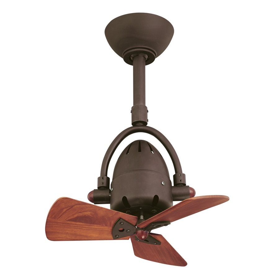 Matthews Diane 16-in Textured Bronze Downrod Mount Indoor Ceiling Fan with Remote (3-Blade)