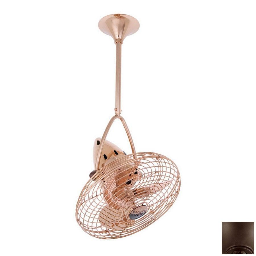 Matthews 16-in Jarold Directional Bronze Ceiling Fan