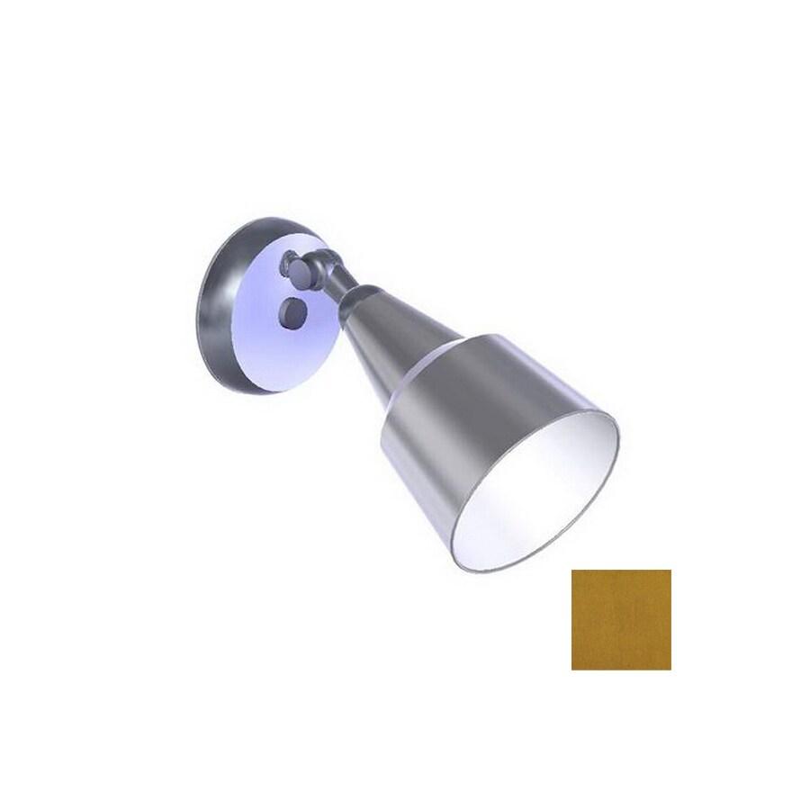 Remcraft Lighting Swedish Modern Satin Brass Outdoor Flush Mount Light