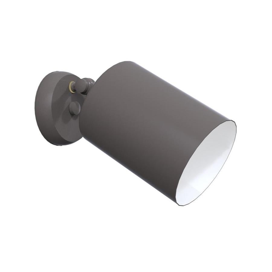 Remcraft Lighting Cylinders 5.875-in W Bronze Glass Semi-Flush Mount Light