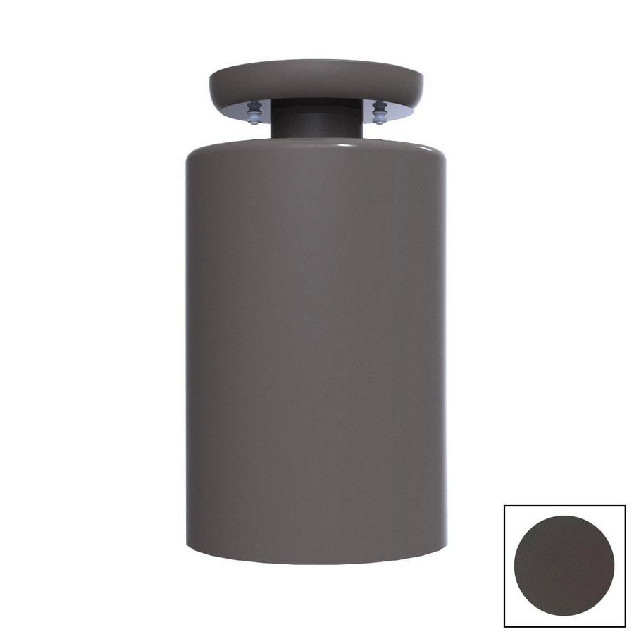 Remcraft Lighting Cylinders 5.875-in W Bronze Semi-Flush Mount Light