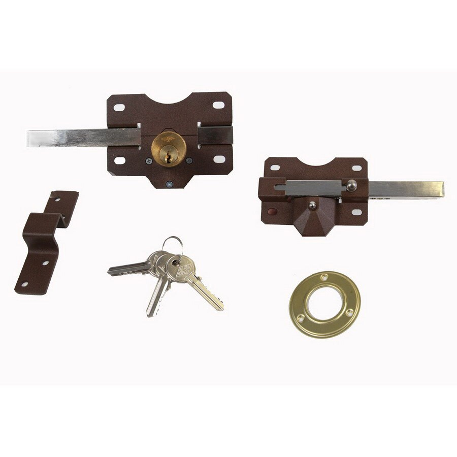 Gatemate Nickel Single-Cylinder Rim Lock