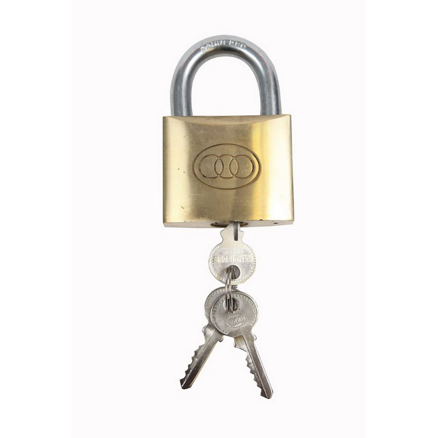 Gatemate Brass Shackle Keyed Padlock