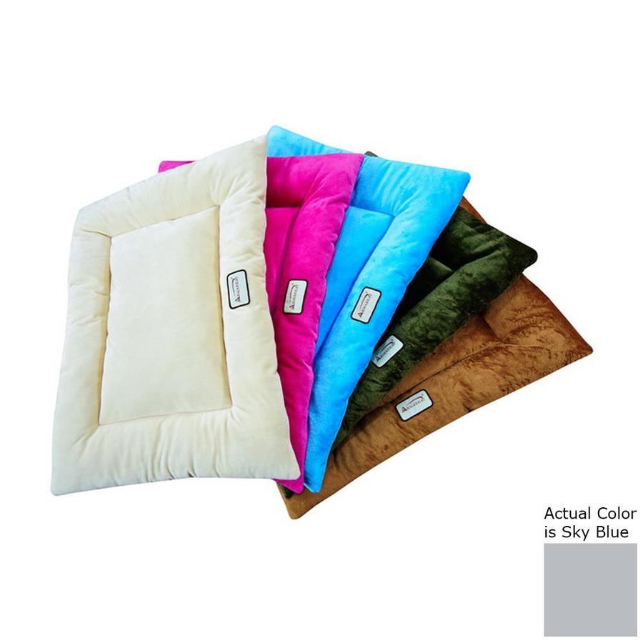 Armarkat Sky Blue Soft Velvet Rectangular Dog Bed