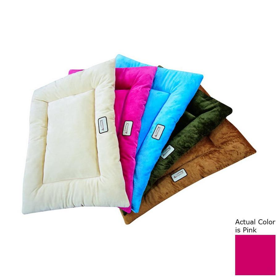 Armarkat Pink Soft Velvet Rectangular Dog Bed