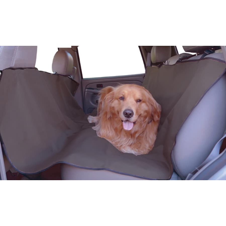 Majestic Pets 58-in Gray Fabric Dog Car Seat Cover