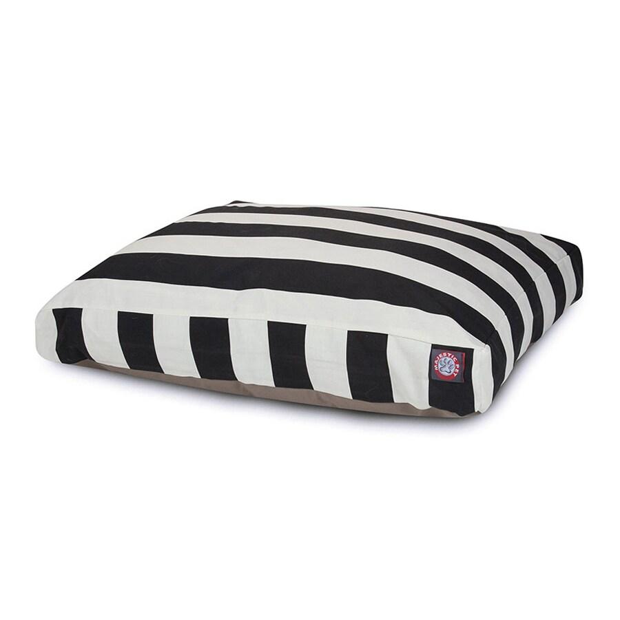 Majestic Pets Black Polyester Rectangular Dog Bed