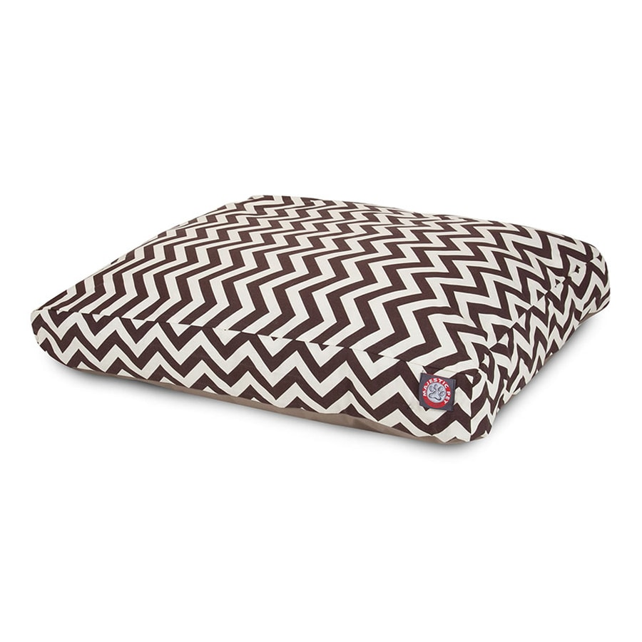 Majestic Pets Chocolate Polyester Rectangular Dog Bed