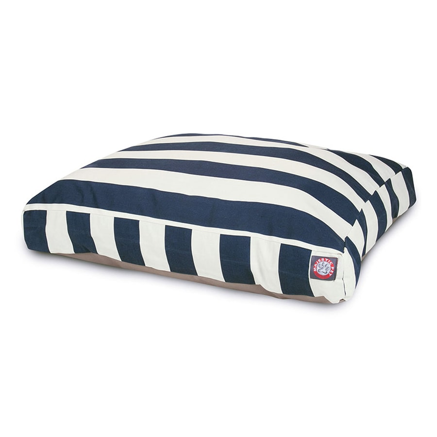 Majestic Pets Navy Blue Polyester Rectangular Dog Bed
