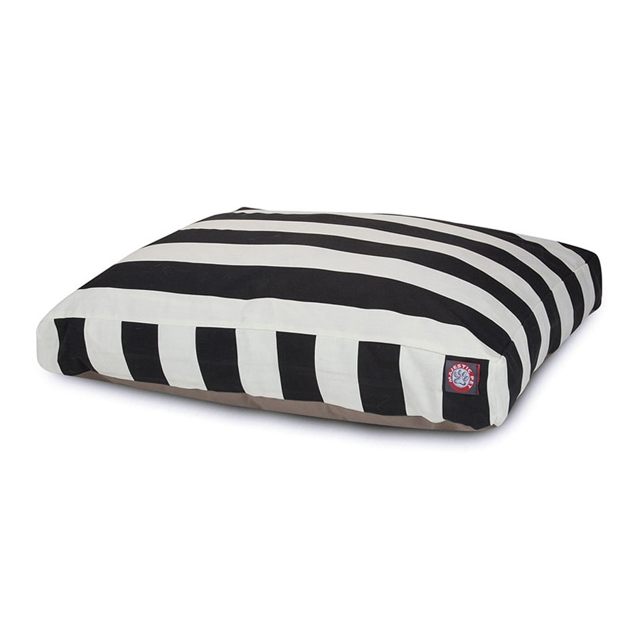 Majestic Pets Black Polyester Rectangular Dog Bed