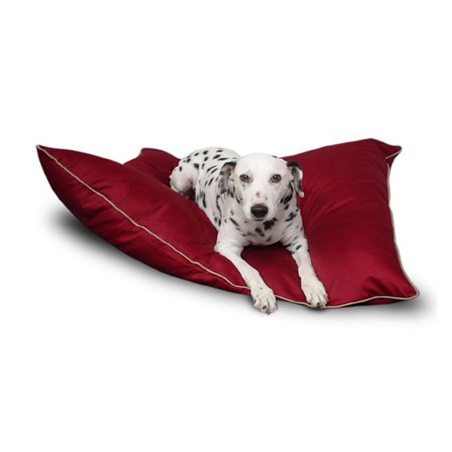 Majestic Pets Burgundy Poly Cotton Rectangular Dog Bed