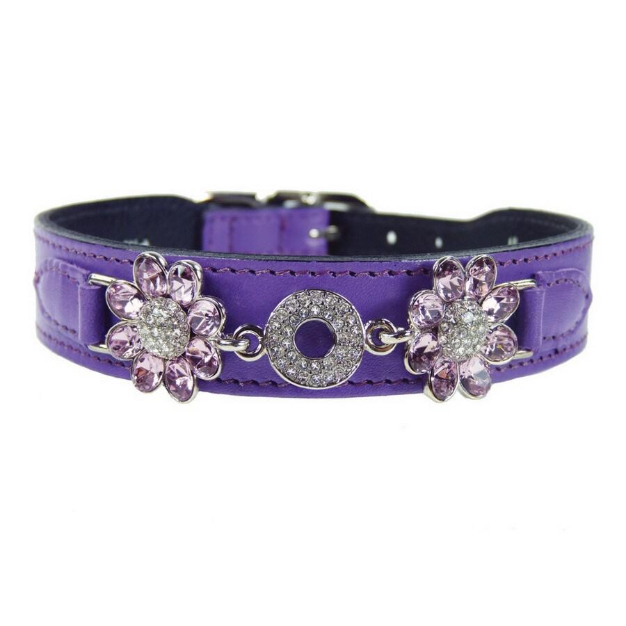 Hartman & Rose Lavender Leather Dog Collar