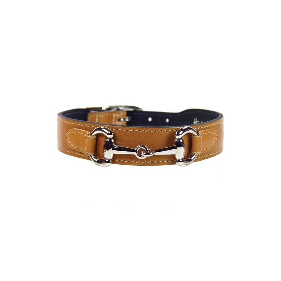 Hartman & Rose Buckskin Leather Dog Collar