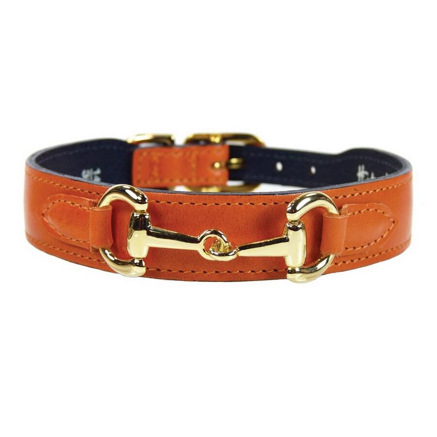 Hartman & Rose Tangerine Leather Dog Collar