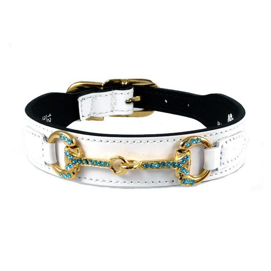Hartman & Rose White Patent Leather Dog Collar