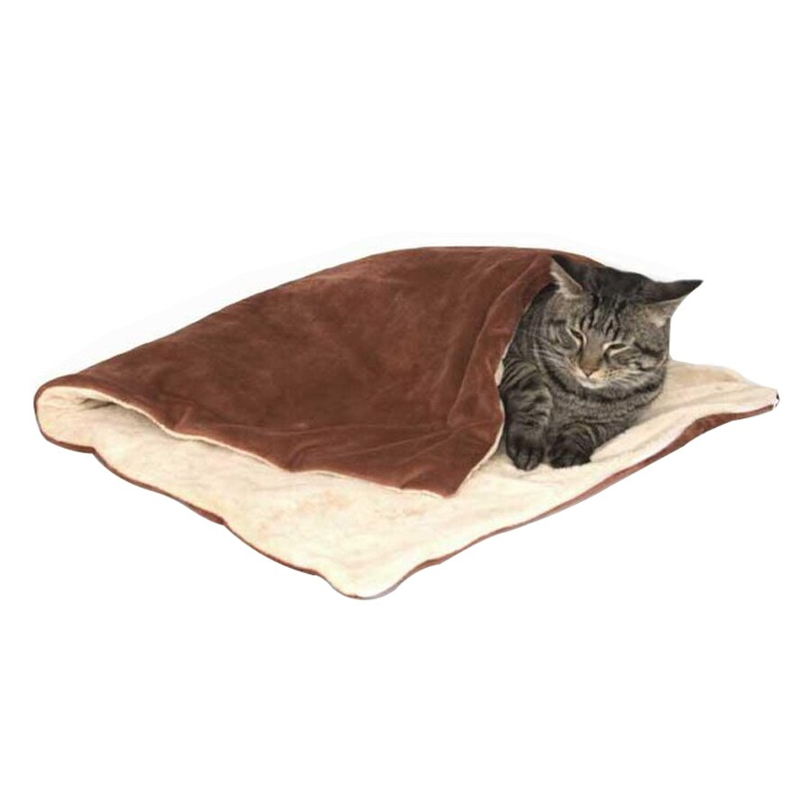 K&H Manufacturing Rust/Tan Polyester Rectangular Cat Bed