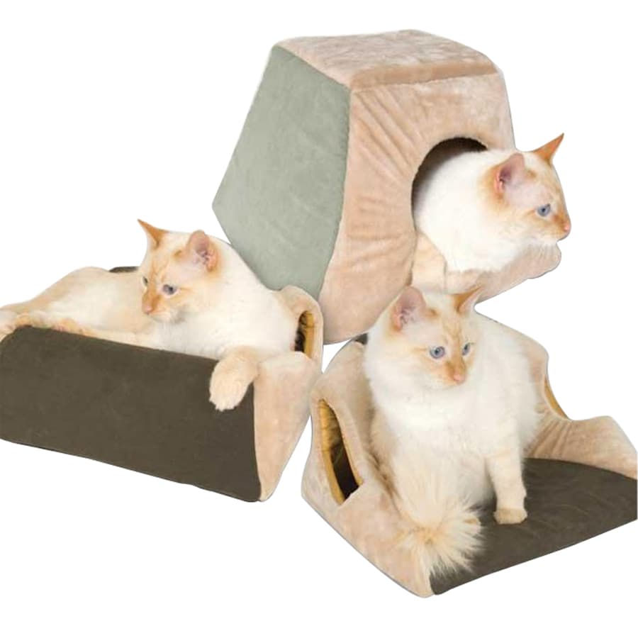 K&H Manufacturing Mocha Microsuede and Polyester Cat Bed