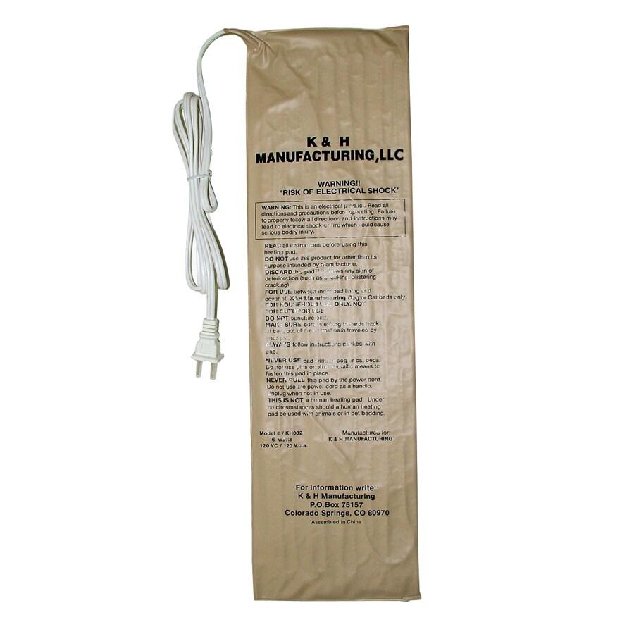 K&H Manufacturing Tan Vinyl Rectangular Dog Bed Warmer