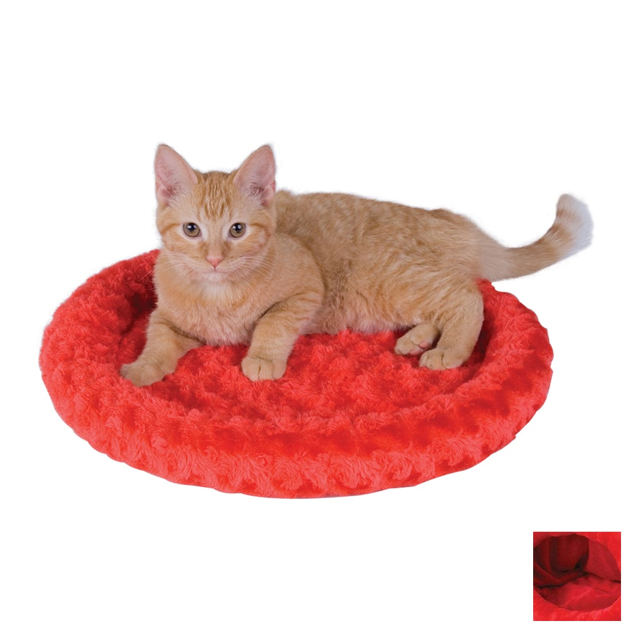 K&H Manufacturing Red Polyester Round Cat Bed