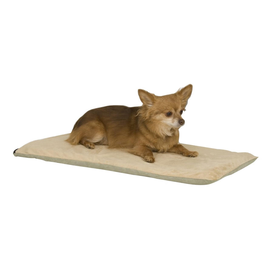 K&H Manufacturing Mocha Polyester Rectangular Heated Dog Bed