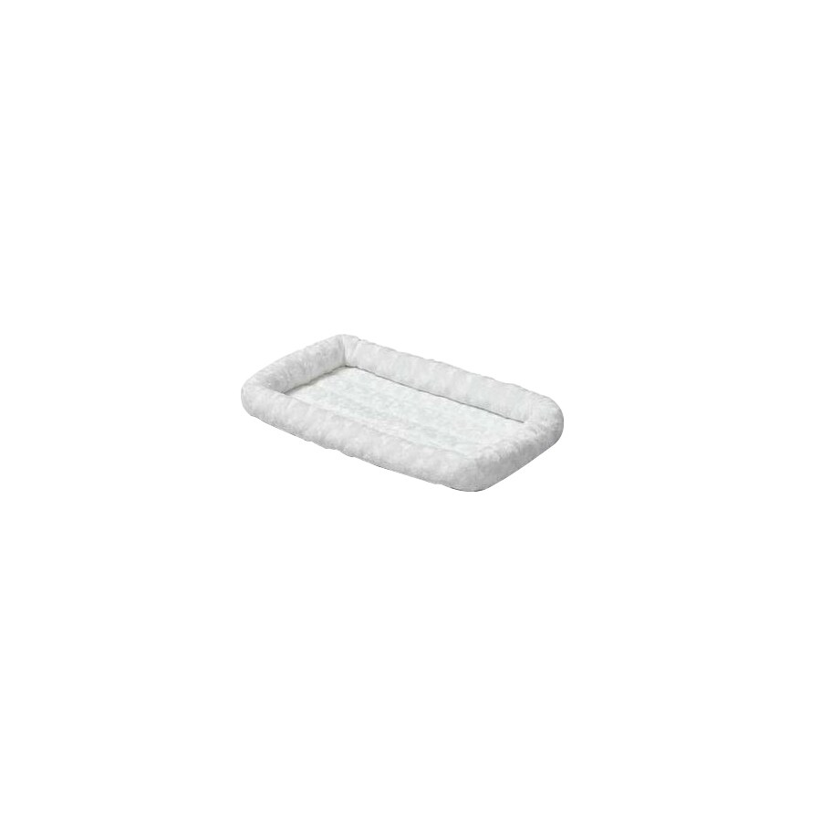 midwest pets White Synthetic Fur Rectangular Dog Bed
