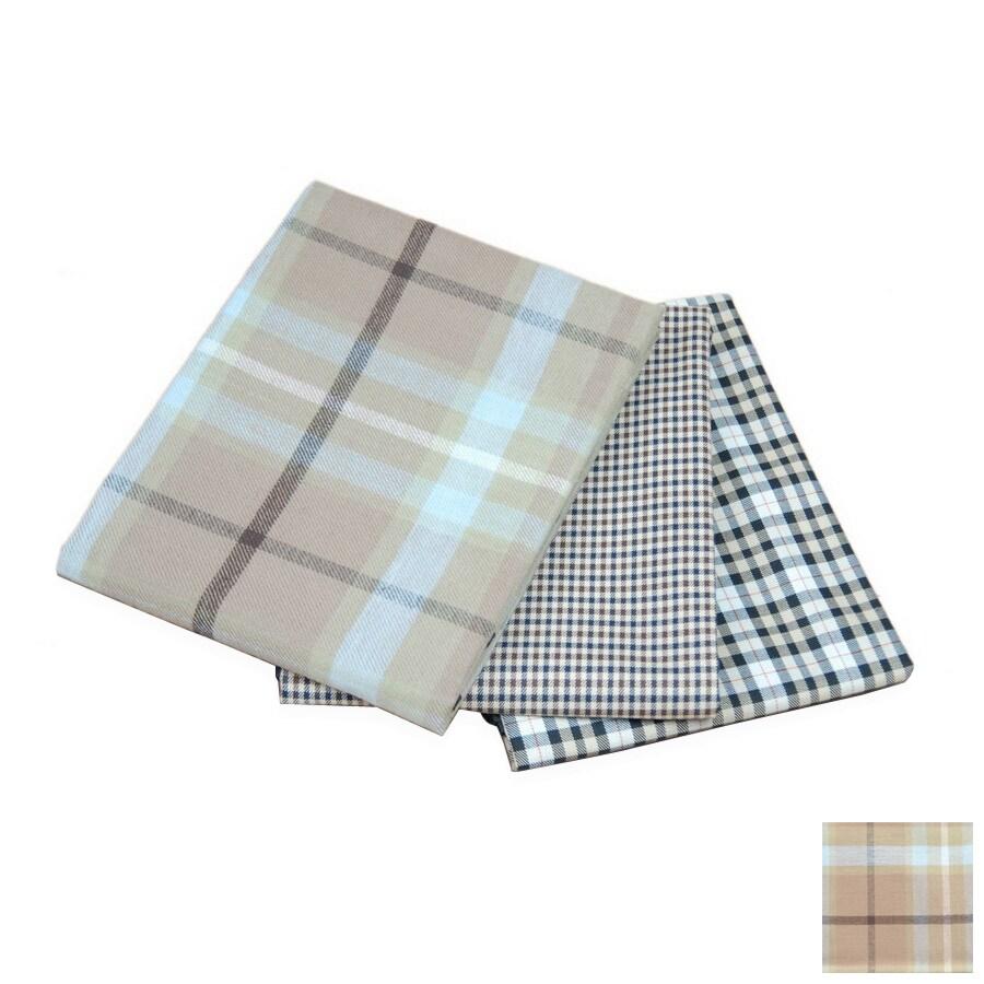 Carolina Pet Company Blue/Brown Plaid Polyester with PVC Backing Rectangular Dog Bed