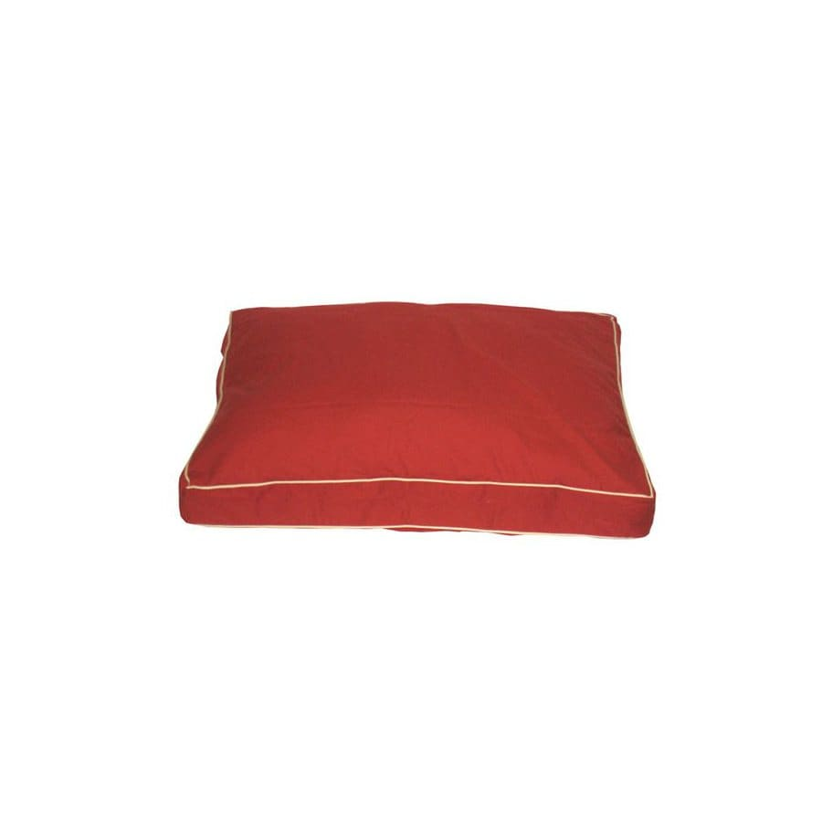 Carolina Pet Company Barn Red Cotton Twill Rectangular Dog Bed
