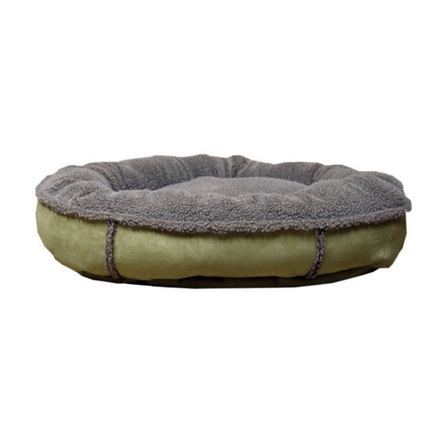 Carolina Pet Company Sage Faux Suede and Tipped Berber Oval Dog Bed