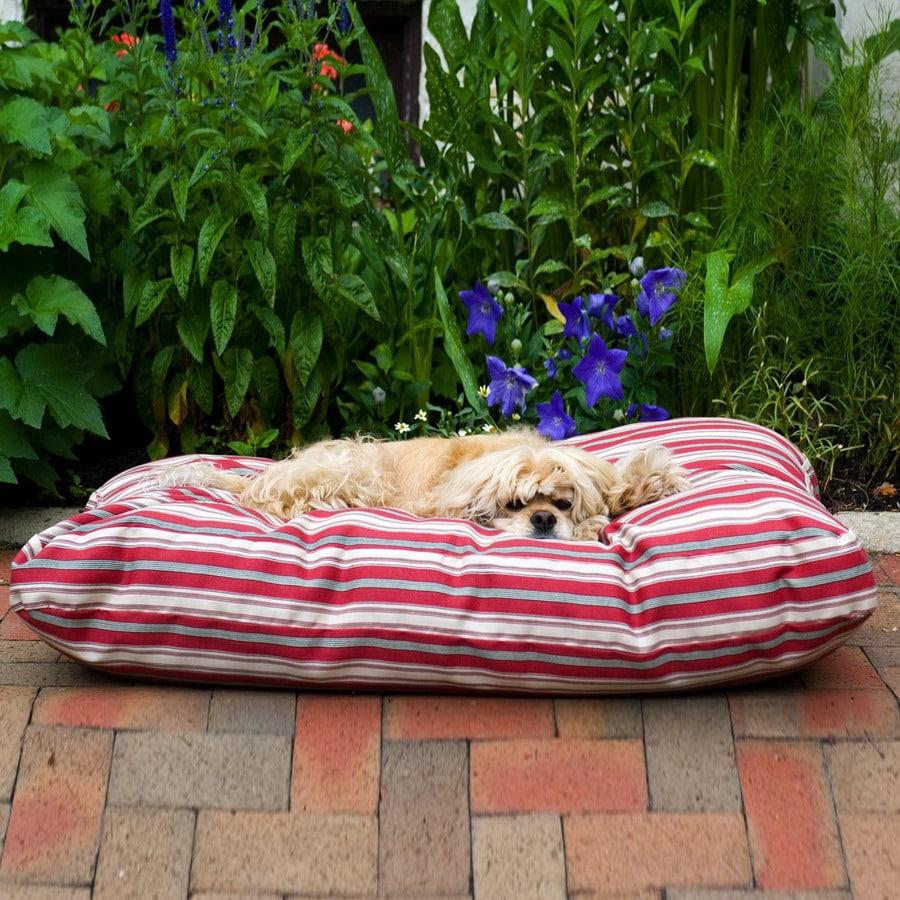Carolina Pet Company Red Stripped Cotton Twill Rectangular Dog Bed